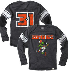 Wes And Willy Zombie Football Jersey Black Blend