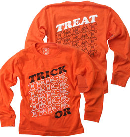 Wes And Willy Trick or Treat LS Tee Orange Crush