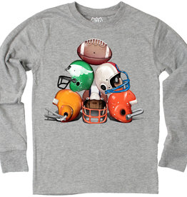 Wes And Willy Helmet Stack LS Tee Heather
