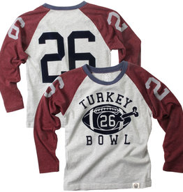 Wes And Willy Fall 20 Turkey Bowl Raglan Maroon/Heather