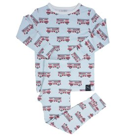Sweet Bamboo Big Kid PJ Set Firetruck