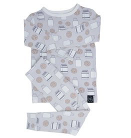 Sweet Bamboo Big Kid PJ Set Milk & Cookies