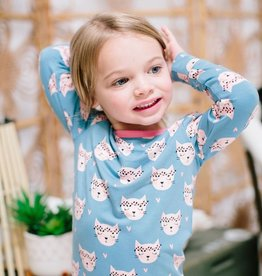 Sweet Bamboo Big Kid PJ Set Hippie Kitty