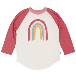 Feather 4 Arrow Painters Rainbow LS Raglan Berry