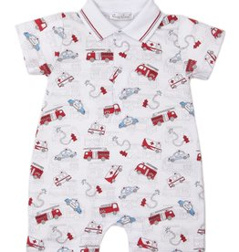 Kissy Kissy Rescue Rally Print Short Playsuit