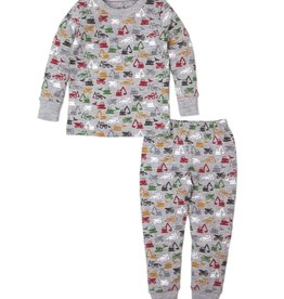 Kissy Kissy Construction Countdown Pajama Set