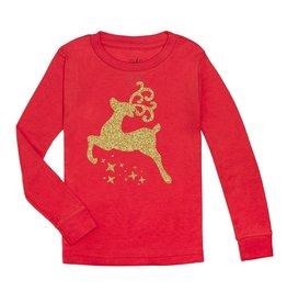 Sweet Wink Christmas Reindeer LS Shirt Red