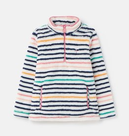 Joules Merridie Printed Fleece Navy Multistripe