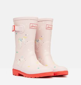 Joules Printed Baby Welly Pink Unicorns