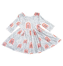 Mila & Rose Peach Rainbow Twirl Dress