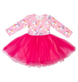 Mila & Rose LS Rainbow Star Tutu Dress