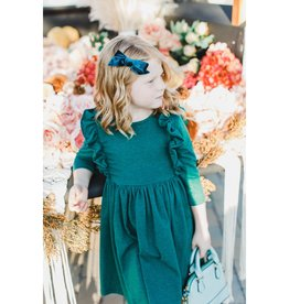 Mila & Rose Spruce Heather Ruffle Twirl Dress