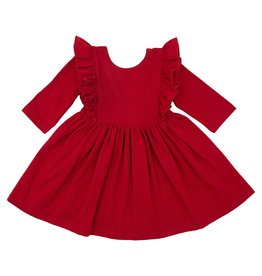 Mila & Rose LS Scarlett Ruffle Twirl Dress