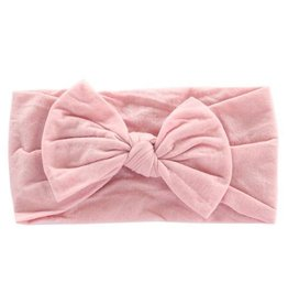 Mila & Rose Vintage Pink Nylon Bow Headwrap
