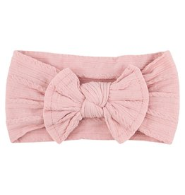 Mila & Rose Vintage Pink Cable Knit Nylon Headwrap