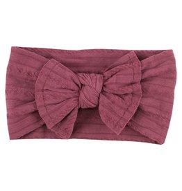 Mila & Rose Cranberry Cable Knit Nylon Headwrap