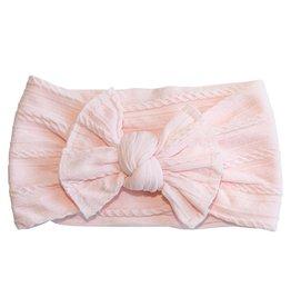 Mila & Rose Ballerina Pink Cable Knit Nylon Headwrap