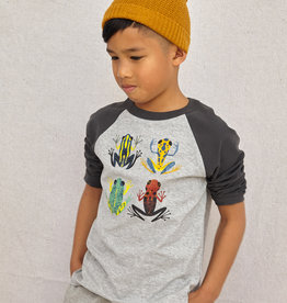 Tea Collection Cloud Forest Frogs Raglan Heather