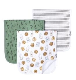 Copper Pearl Chip Burp Cloth Set 3pk