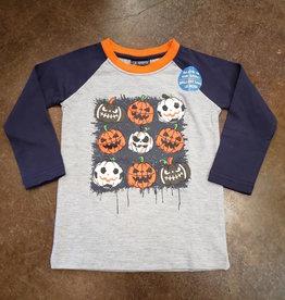 Global Tex Kids Halloween Pumpkin Sports Ball Tee