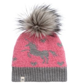 Hatley Shimmer Unicorn Winter Hat Pink