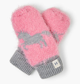 Hatley Shimmer Unicorn Mittens Pink