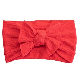 Mila & Rose Ladybug Red Cable Knit Nylon Headwrap