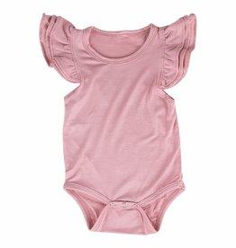 Mila & Rose Vintage Pink SS Flutter Bodysuit