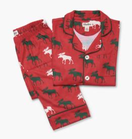 Hatley Holiday Moose Button Down PJ Set