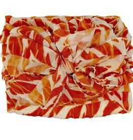 In Awe Couture Ruffle Headband Zebra Pumpkin Cream
