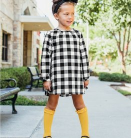 Ruffle Butts/Rugged Butts Black & White Plaid Button Back Dress