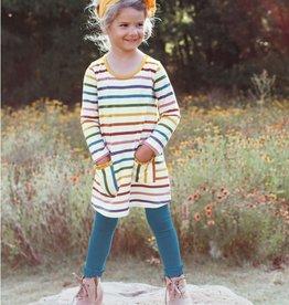Ruffle Butts/Rugged Butts Harvest Rainbow Stripe Pocket Dress