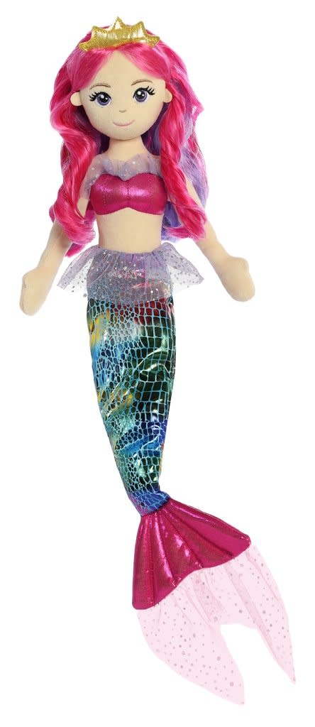 "Aurora 18"" Rainbow Fuchsia Mermaid"