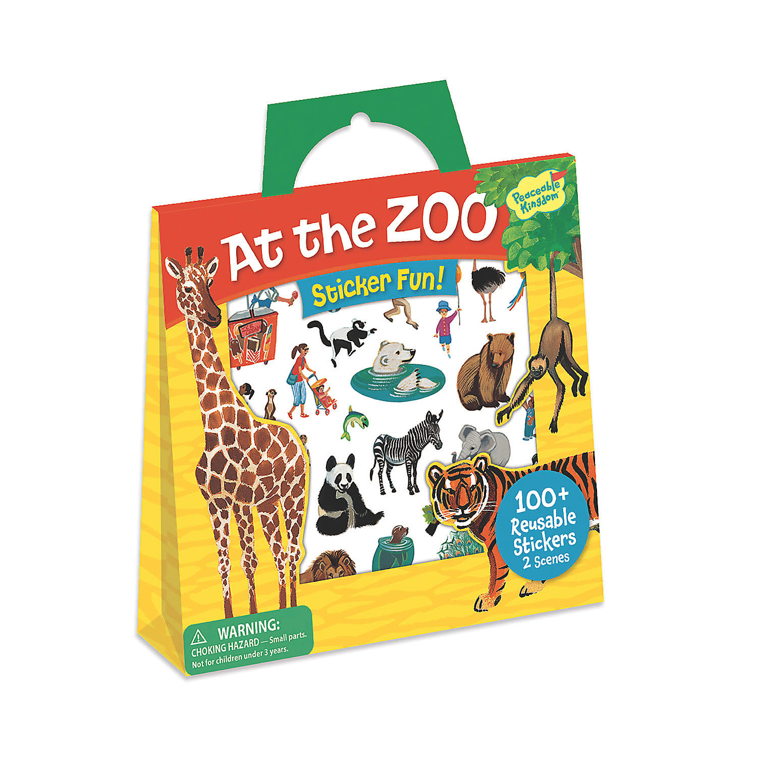 Peaceable Kingdom At the Zoo Reusable Sticker Tote