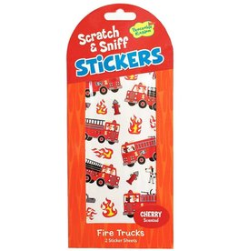 Peaceable Kingdom Cherry Fire Trucks Scratch & Sniff Stickers