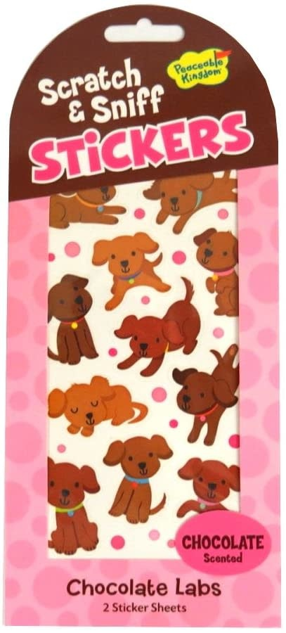 Peaceable Kingdom Chocolate Labs Scratch & Sniff Stickers