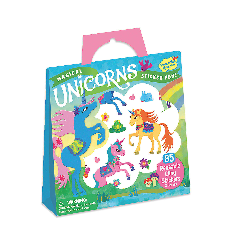 Peaceable Kingdom Magical Unicorns Reusable Sticker Tote
