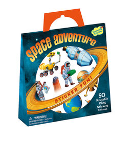 Peaceable Kingdom Space Adventure Reusable Sticker Tote