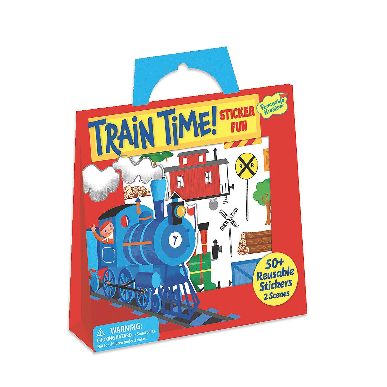 Peaceable Kingdom Train Time Reusable Sticker Tote
