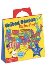 Peaceable Kingdom US Map Reusable Sticker Tote