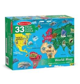 Melissa & Doug World Map Floor Puzzle (33pc)