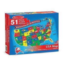 Melissa & Doug USA Map 51pc Floor Puzzle