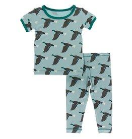 Kickee Pants SS PJ Set Jade Mallard Duck