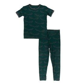Kickee Pants SS PJ Set Pine Deer Rack