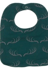 Kickee Pants Bib Set (Jade Mallard Duck/Pine Deer Rack/Nat Fishing Flies)