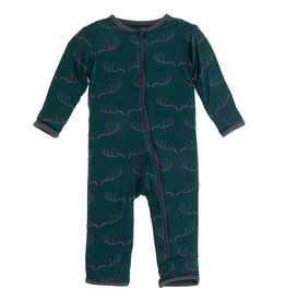 Kickee Pants Coverall w/ Zipper Pine Deer Rack