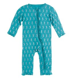 Kickee Pants Muff Ruff Coverall w/ Zipper Neptune Seahorse