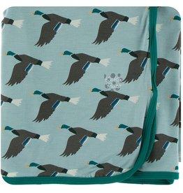 Kickee Pants Swaddling Blanket Jade Mallard Duck