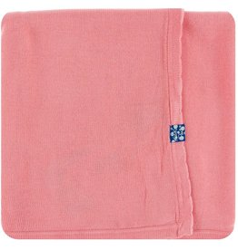 Kickee Pants Solid Knitted Blanket Strawberry