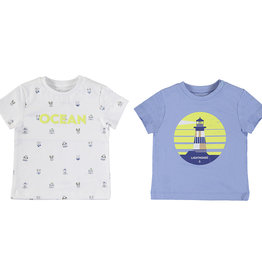 Mayoral SS 2pc Printed T-Shirt Set Lavender